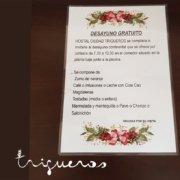 Desayuno continental gratis en Hostal Ciudad Trigueros