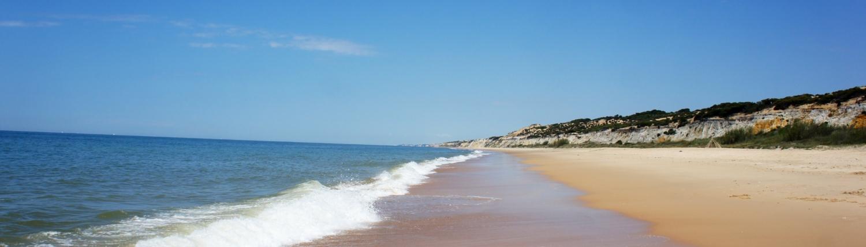 Playas en la costa onubense