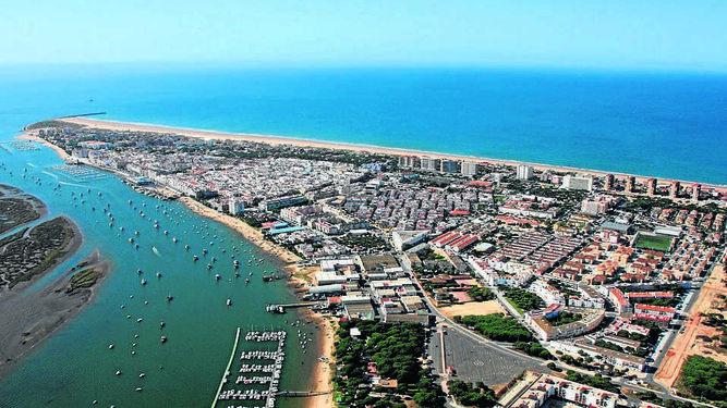 Vista aérea Punta Umbria Huelva