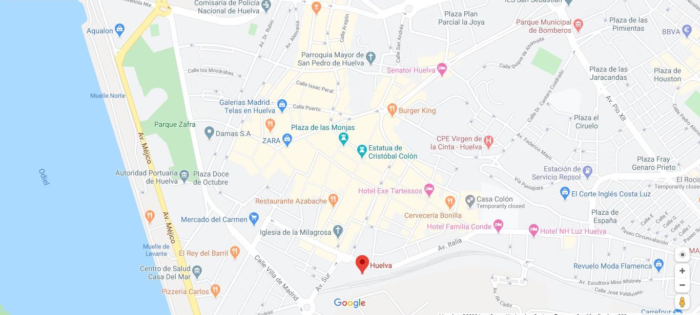 Mapa de turismo de Huelva